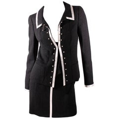 Chanel Jacket and Skirt - Black & White
