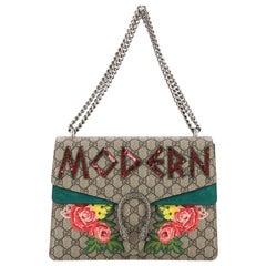 Gucci Dionysus Handbag Embellished GG Coated Canvas Medium