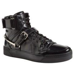 New Gucci Men's Black *Basket Darko* High-Top Sneaker Gucci sizes 8.5  9  9.5