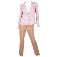 Chanel 3-pcs Suit Jacket, Pants & Top - pink/purple/brown 2005