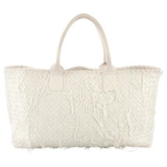 Bottega Veneta Cabat Tote Limited Edition Fringe Net Intrecciato Nappa Medium