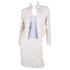 Chanel 4-pcs Suit Jacket, Skirt, Pants & Top - lilac/beige/blue/white 2005