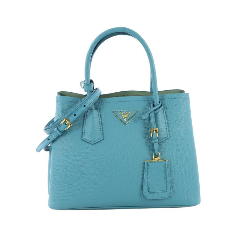2d06e28b3850 Prada Cuir Double Tote Saffiano Leather Small For Sale at 1stdibs