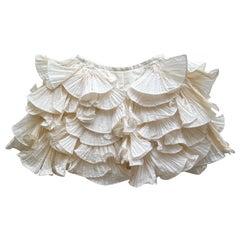 1980s Bernard Perris Couture Cream Silk Crepe Shorts