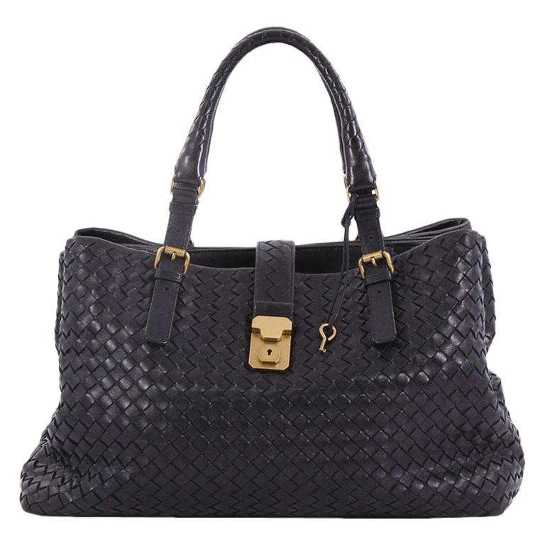 Bottega Veneta Roma Handbag Intrecciato Nappa Medium For Sale at 1stdibs 9951ba2dd4506