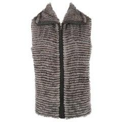 GORSKI Size XL Grey Mink Fur Vest