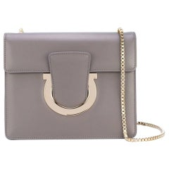 Ferragamo Gray Leather Thalia Crossbody Bag