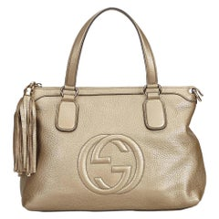Gucci White Soho Leather Handbag