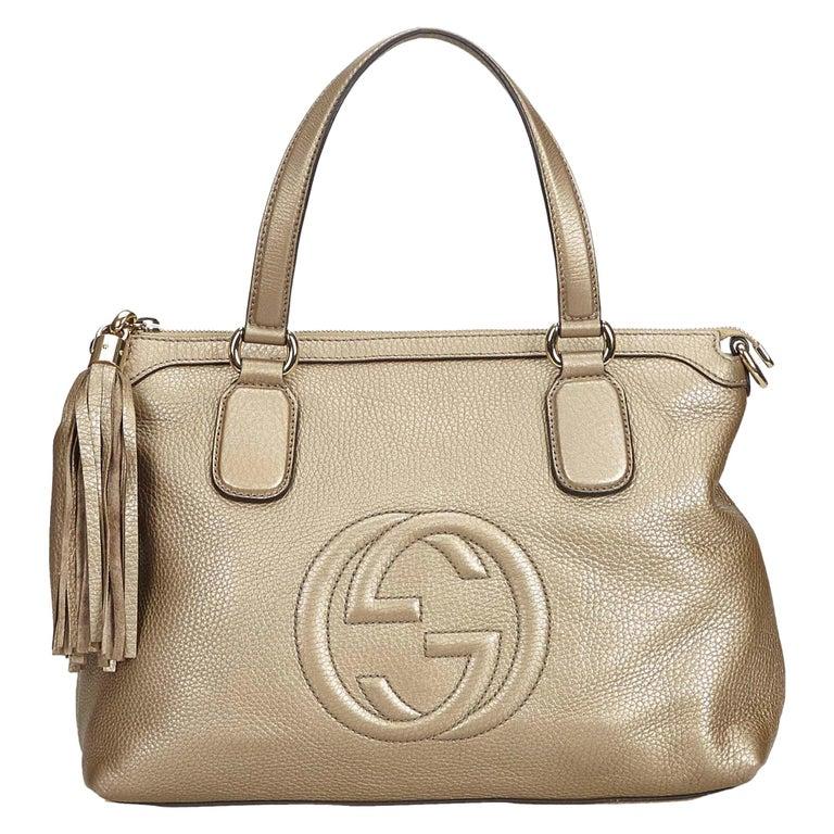 37efde8bbb6 Gucci White Soho Leather Handbag For Sale at 1stdibs