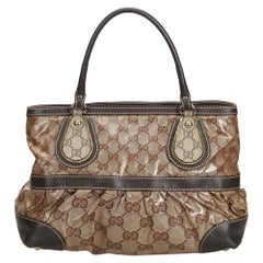 Gucci Brown Medium GG Crystal Mix Handbag