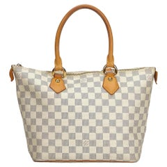 Louis Vuitton White Damier Azur Saleya PM