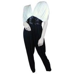 Susan Roselli for Vijack 80's Bi-colored 80's Jumpsuit size US 4