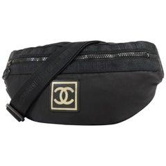 Chanel (Ultra Rare) Jumbo Cc Logo Banana Waist Pouch 231674 Cross Body Bag 335e30192e832
