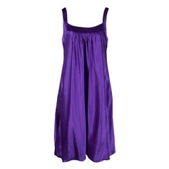 Dolce and Gabbana Purple Silk Satin Sleeveless Balloon Dress S