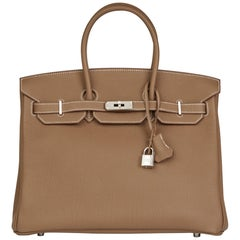 2013 Hermes Etoupe Togo Leather Birkin 35cm