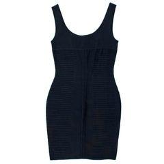 Herve Leger Black Bandage Dress US 10