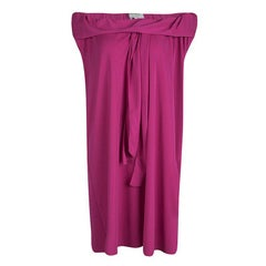 Yves Saint Laurent Pink Knit Off Shoulder Sleeveless Shift Dress S