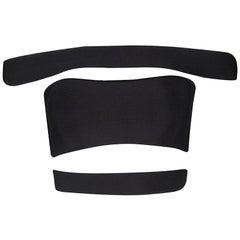 Balmain Black Knit Cutout Bandeau Top S