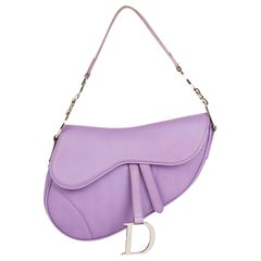 2004 Christian Dior Lilac Calfskin Leather Saddle Bag