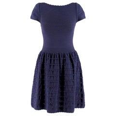 Valentino Blue Scalloped Dress US 6