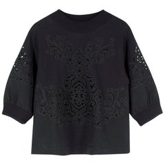 Dolce & Gabbana Black Cut-Out Embroidery Sweatshirt US 4