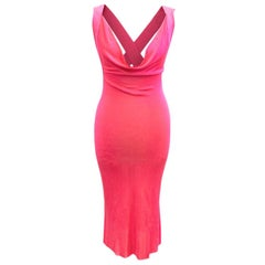Alexander McQueen Pink Cross Back Dress US 6