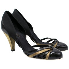 Chanel multi-strap patent leather pumps US 10