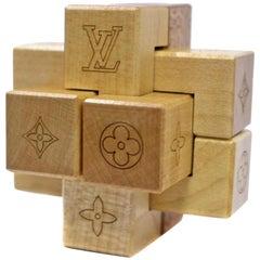 Louis Vuitton Natural (Ultra Rare) Wood Pateki Puzzle Blocks Toy Game Lvtl134