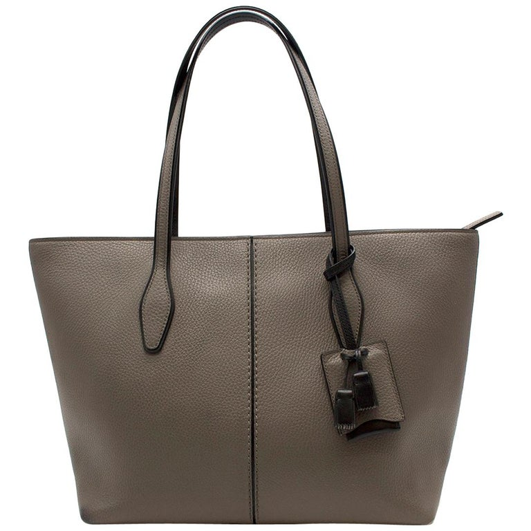 Tod's Joy Taupe Bag Large  For Sale