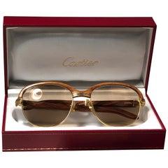 e6d8e8674d Cartier Vendome Santos Vintage Satin Sunglasses 62 14 For Sale at ...