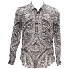 Alexander McQueen Men's Runway Cotton Skeleton Print Shirt, Fall 2010