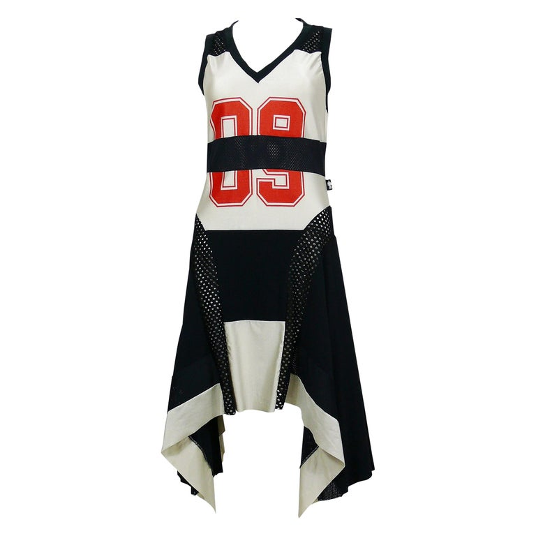 new styles 7e872 f4b2d Jean Paul Gaultier Vintage Basketball Jersey Dress