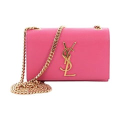 Saint Laurent Classic Monogram Crossbody Bag Grainy Leather Small