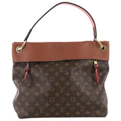 Louis Vuitton Tuileries Hobo Monogram Canvas with Leather