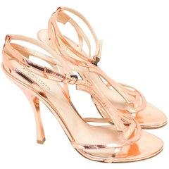 Bottega Veneta Metallic Rose Gold Heels US 8.5