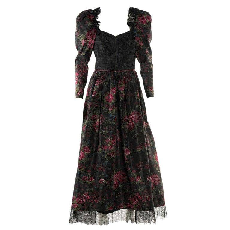 1970s Raffaella Curiel Milano Evening Gown