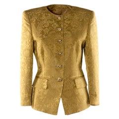 Rena Lange Yellow Damask Jacket
