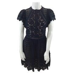 Rebecca Taylor Black Lace Dress NWT