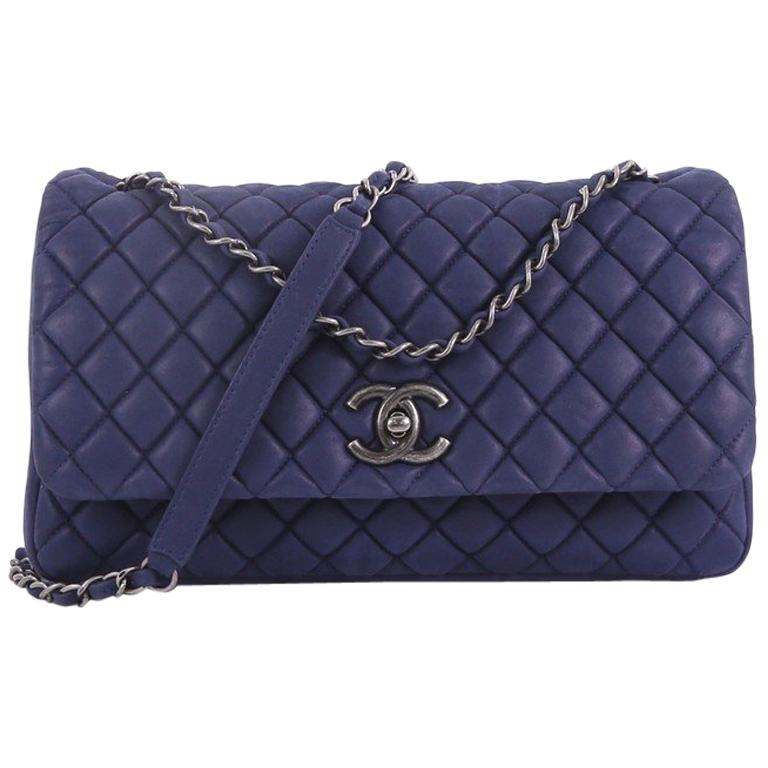 29e0b4bda234 Chanel New Bubble Flap Bag Quilted Iridescent Calfskin Large at 1stdibs