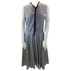 Adam Lippes Grey and White Stripe Dress