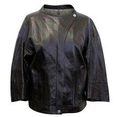 Celine Brown Leather Jacket US 8