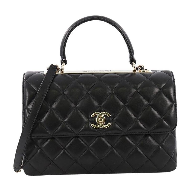 7f8ee3ec87da Chanel Trendy CC Top Handle Bag Quilted Lambskin Medium For Sale at ...