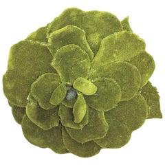 Chanel Green Flower Brooch