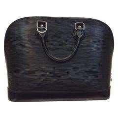 Louis Vuitton Black Epi Alma Handbag