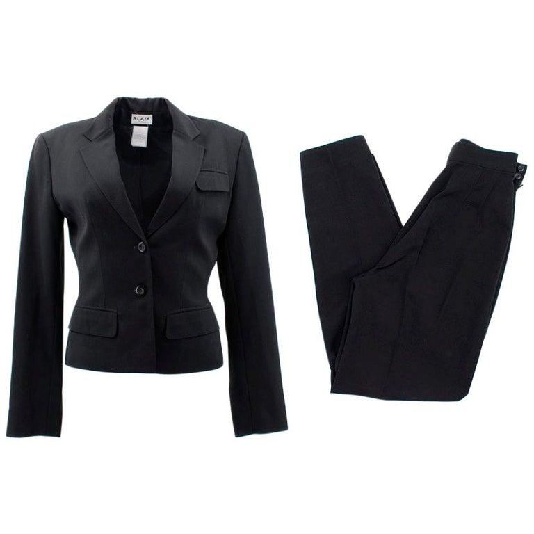 Alaia Black Suit US 4 For Sale