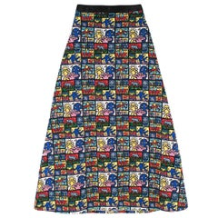 Keith Haring x Alice + Olivia Ursula embellished maxi skirt US 2