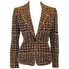 Valentino Roma stunning Single Breasted Tweed and Rose Jacket