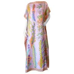 1970s Averardo Bessi Floral Silk Kaftan