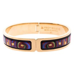 Frey Wille Hommage à Hundertwasser Spiral of Life Fire Enamel Ballerina bracelet