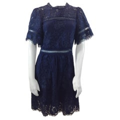 Sea Navy Blue Lace Cut Out Dress NWT